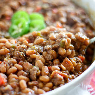Beefy Jalapeno BBQ Baked Beans.