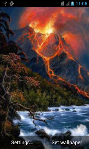 Volcano live wallpaper