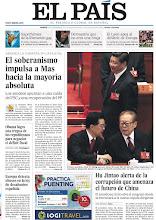 Photo: El soberanismo impulsa a Mas hacia la mayoría absoluta, Obama logra una tregua de los republicanos para negociar el déficit fiscal y Hu Jintao alerta de la corrupción que amenaza el futuro de China, en nuestra portada del viernes 9 de noviembre http://srv00.epimg.net/pdf/elpais/1aPagina/2012/11/ep-20121109.pdf