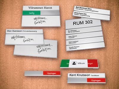 Nytt sortiment av namnskyltar och rumsskyltar i butiken