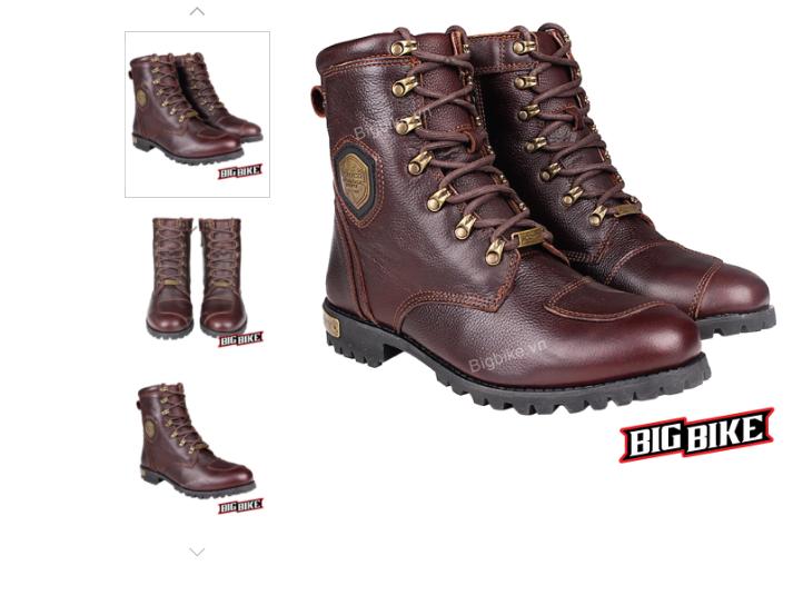 Một mẫu giày được làm từ da bò thật cao cấp