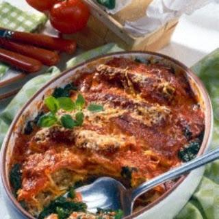 Cannelloni in Tomaten-Sahne.
