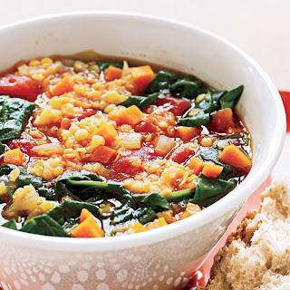 Red Lentil and Vegetable Soup.