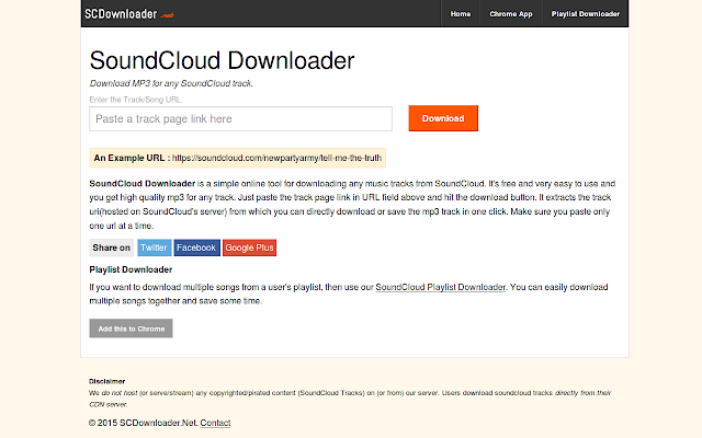 Soundcloud Downloader Chrome