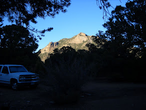 Photo: Sunset on Bull Mtn from our campsite.