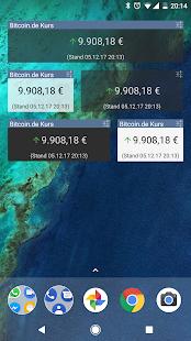bitcoin.de Price Widget - náhled