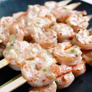 Bangin' Grilled Shrimp Skewers.
