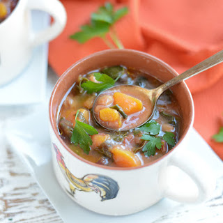 Slow Cooker Autumn Minestrone Soup.