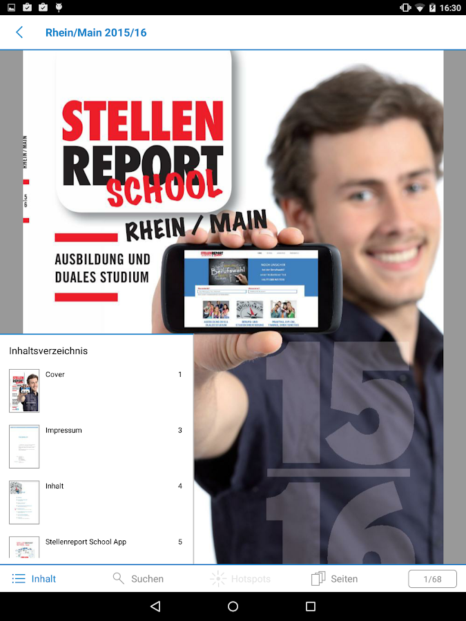 STELLENREPORT SCHOOL – Screenshot