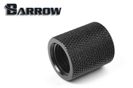 Barrow hun/hun forlenger, 20 mm, 1/4BSP, Black