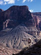 Photo: Backpacker, Grand Canyon, Arizona USA