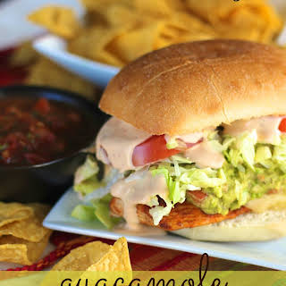 Guacamole Chicken Torta Sandwiches.