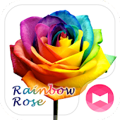 Rainbow Rose +HOME Theme