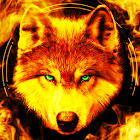 Fire Wallpaper and Keyboard - Lone Wolf