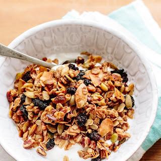 Granola with Pecans, Cherries & Coconut Flakes