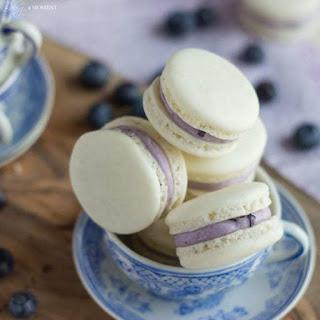 Blueberry Mascarpone Macarons.