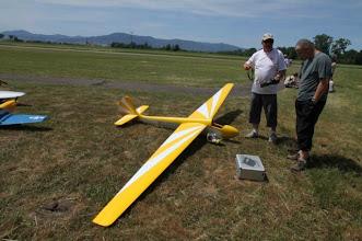 Photo: Laurent à Meistratzheim avec son Air 100.