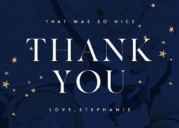 That Was So Nice - Thank You Card Template
