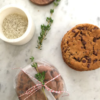 Salted Thyme Chocolate Chip Cookies
