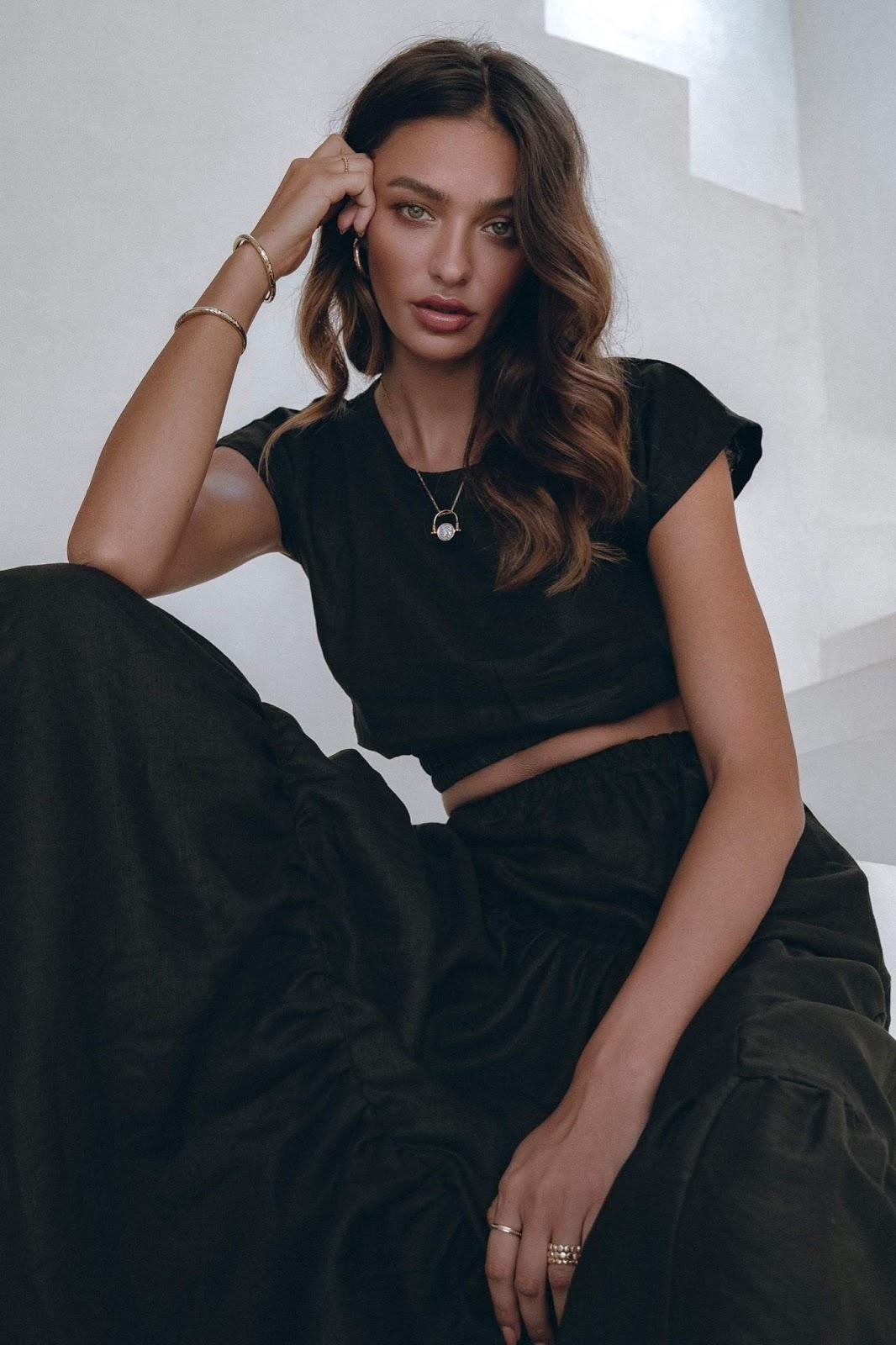 Luna Skirt Set in Black