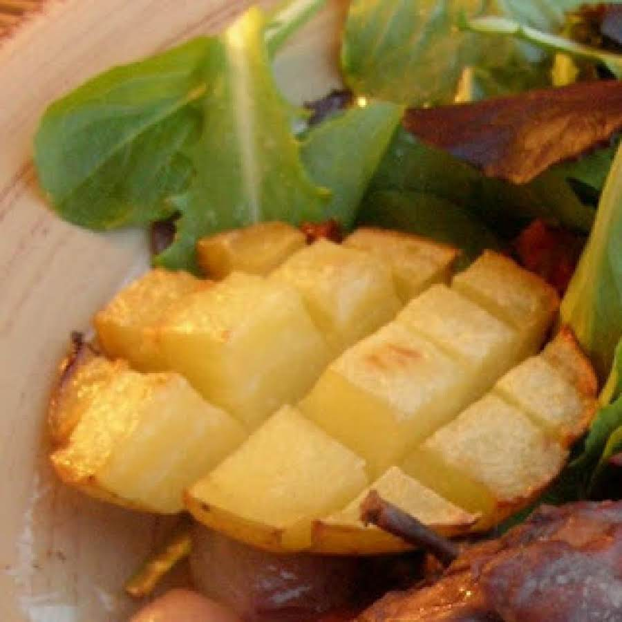 Scored Potatoes Recipe: Crisscross Potatoes Recipe