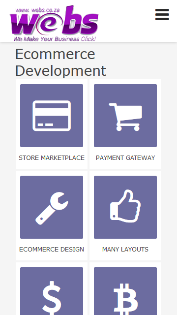 Ecommerce Webdesign- screenshot