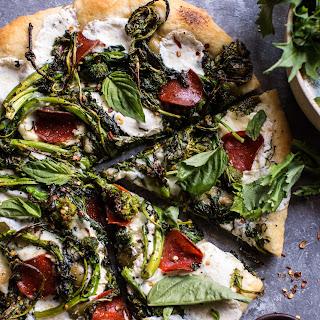 Broccoli Rabe Burrata Pizza.