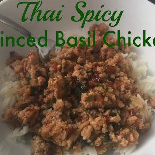 Thai Spicy Minced Basil Chicken