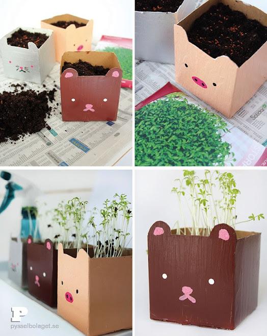 pot lucu untuk si kecil belajar berkebun