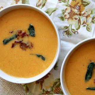 Sweet Potato Soup with Bacon and Crispy Sage Recipe