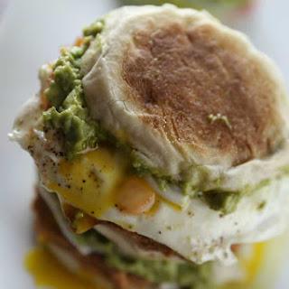 Huevos Rancheros Breakfast Sandwich.