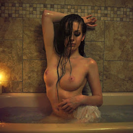 Burn The Lonely Nights by B Lynn - Nudes & Boudoir Artistic Nude ( water., scene., baths., person., wet. )