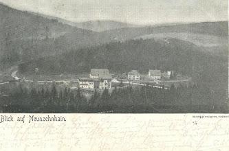 Photo: Wünschendorf im Erzgebirge  Sachsen  Hammermühle Neunzehnhain   - Postkarte gel.1902Die Gaststätte zur Hammermühle steht hier noch nicht(Ich besitze diese Karte,habe aber keine Rechte am Bild)