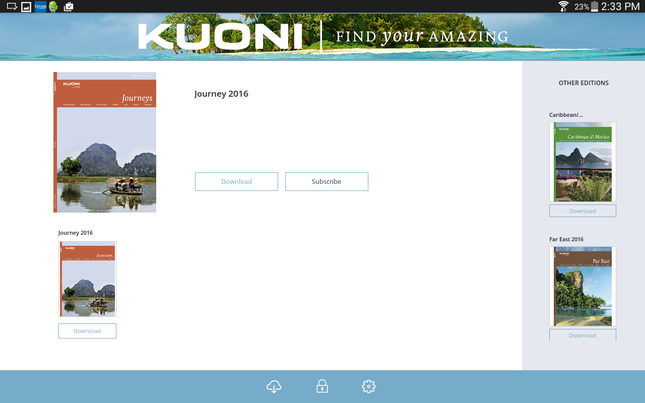 Kuoni Travel Brochures- screenshot