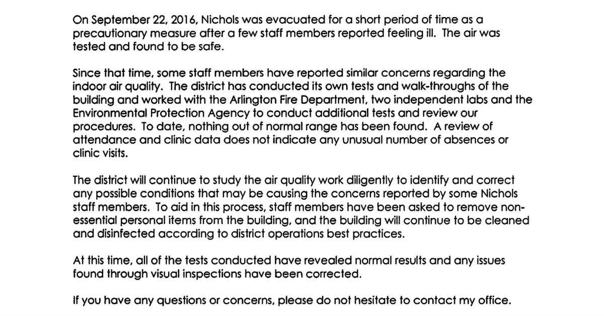 Nichols Air Quality Parent Letter 11 04 16 Pdf Google Drive