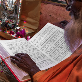 Pandit reading Ram Charit Manas by Ketan Vikamsey - People Street & Candids ( canon5dmarkiv, pic of the day, canonusa, recital, natgeoyourshot, dev deepavali, lonelyplanet, lonelyplanetmagazineindia, natgeohd, ram charit manas, up tourism, canonphotography, ganga ghat, photo of the day, uttar pradesh tourism, kv kliks, natgeotravel, varanasi, travel the world pix, pandit, bbctravels, ketan vikamsey, incredible india )