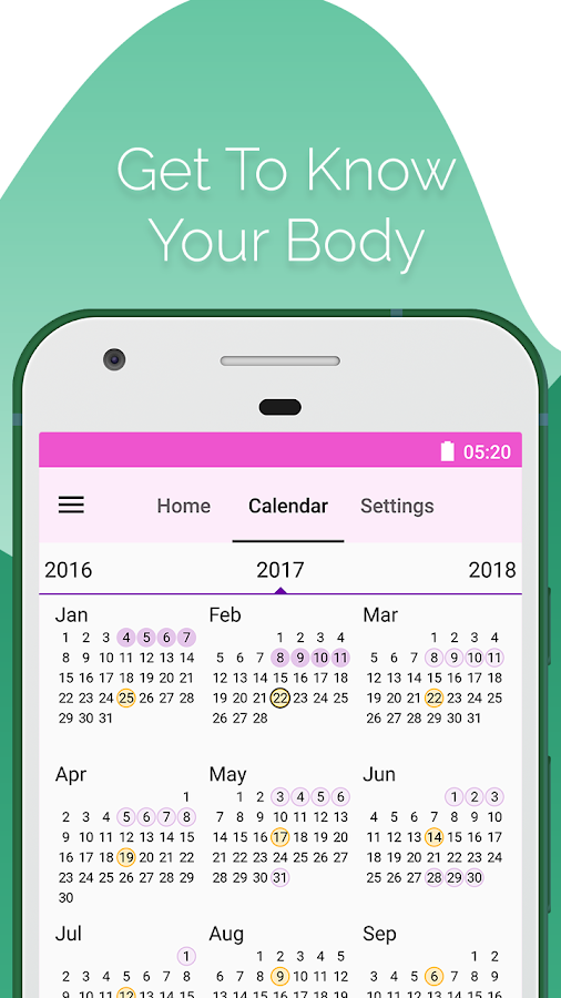 Period and Ovulation Tracker, Ovulation calculator- screenshot