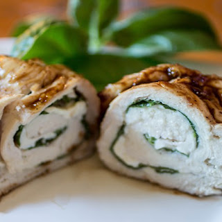 Spinach & Mozzarella Stuffed Chicken Breast.