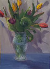 "Photo: Tulips, 11x15"", oil on paper, $300"