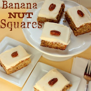 Banana Nut Squares