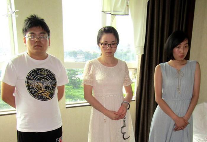 Ba trong số 6 đối tượng bị CATP Móng Cái bắt giữ