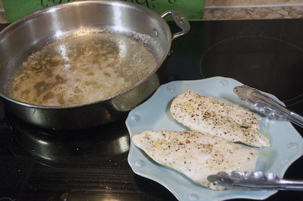 Remove the chicken from the sauté pan and reserve.