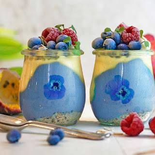 Blue Passionfruit Mango Parfait.
