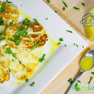 Fried Halloumi with Low Carb Lemon Dressing