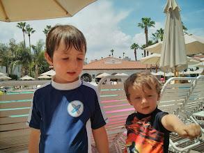 Photo: Clark and Finn at Rancho Mirage