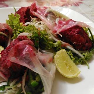 Gulaabi chicken tikka Thai wrap.