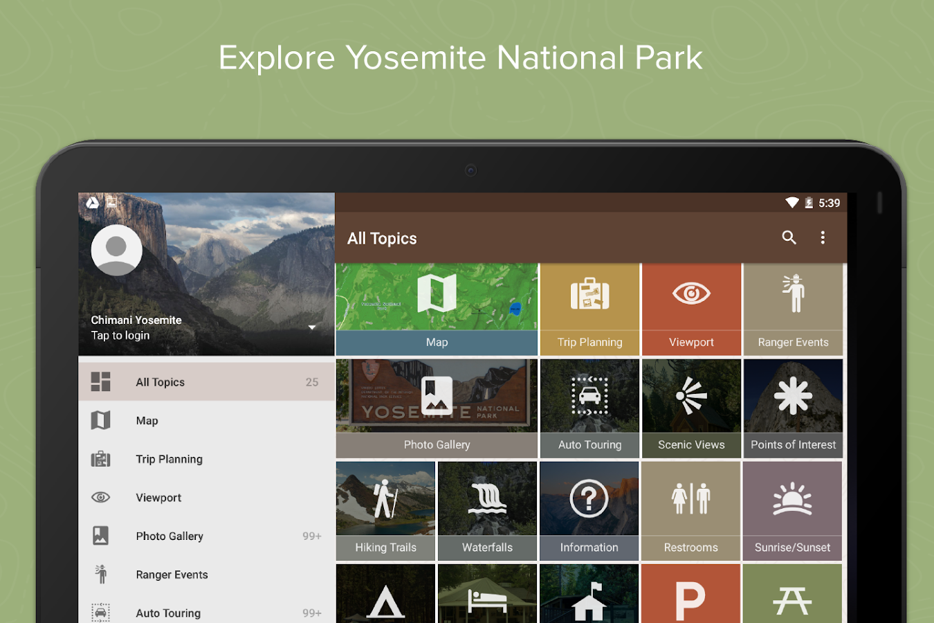 Yosemite Ntl Park by Chimani- screenshot