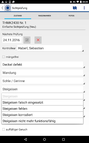 android RIWA Schachtkontrolle Screenshot 7