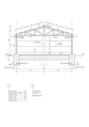 GB15 Garaż Blaszany - Przekrój