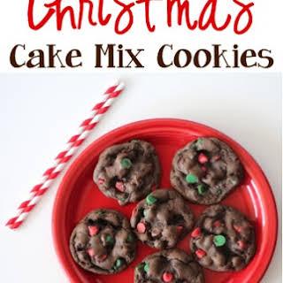 Christmas Cake Mix Cookies.